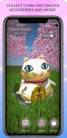 AR Maneki Neko is the top fortune-telling app